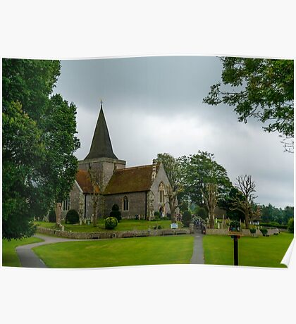 Alfriston Church, East Sussex Poster