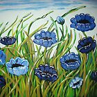 Blue Poppies by Louise Henning