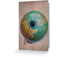 Antique Globe Greeting Card