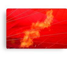 Flame in hot air balloon Canvas Print