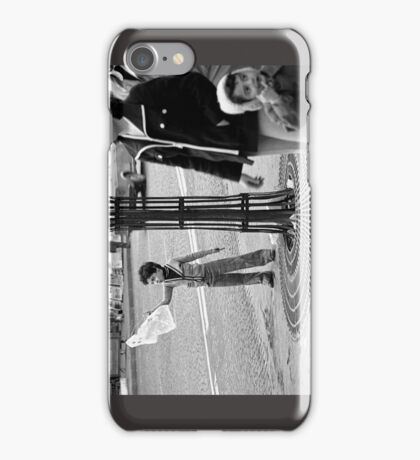 """Collector, On the Way to M.Cartier Bresson """" Careless passers and dangerous game boy !  """" Paris 1975 15 (b&n)(t) by Olao-Olavia par Okaio Création  iPhone Case/Skin"""