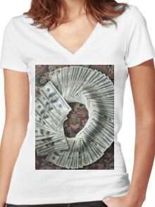 Lottery Love Women's Fitted V-Neck T-Shirt