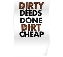 Dirty Deeds- ACDC Poster