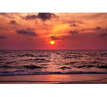 Tropical Sunset Beach Photographic Print