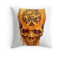 Yellow Skull Throw Pillow