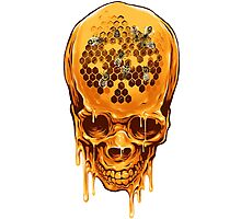 Yellow Skull Photographic Print