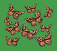 Butterflies: T-shirt by Orla Cahill