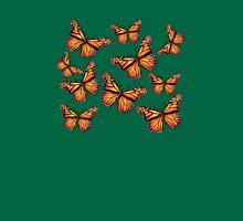 Butterflies: T-shirt Womens Fitted T-Shirt