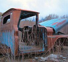 Truck in weeds c4 by MilesArt