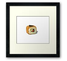 Masago roll Framed Print
