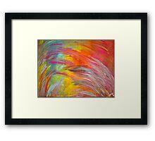 You Color My World Framed Print