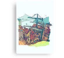 Vigo , under construction Canvas Print