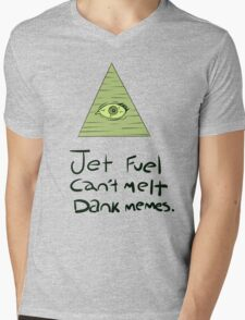 Jet Fuel Can't Melt Dank Memes Mens V-Neck T-Shirt
