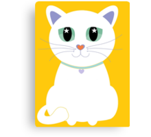 Only One White Kitty Canvas Print