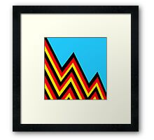 Black and Red and Yellow..... And Blue Framed Print