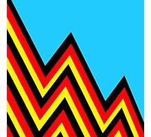 Black and Red and Yellow..... And Blue Photographic Print