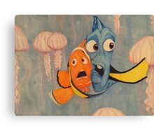 Taking On The Jellies Canvas Print