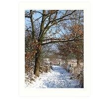 Snow Scene 3 Art Print