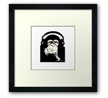 Headphones Chimp Framed Print