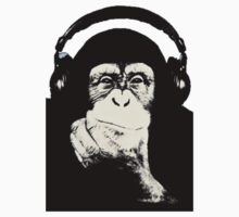 Headphones Chimp by Atomic5