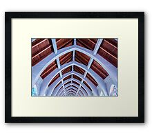 Blue Arches Framed Print