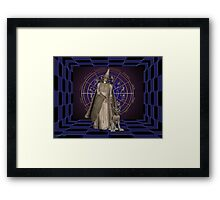 The wizard and his goblin Framed Print