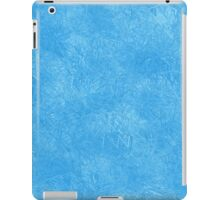 Abstract blue icy geometric background iPad Case/Skin