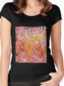 Sunset Joy Women's Fitted Scoop T-Shirt