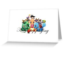 never stop playing Greeting Card