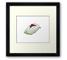 Squid sushi Framed Print