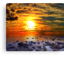 Sunset Shoreline Canvas Print