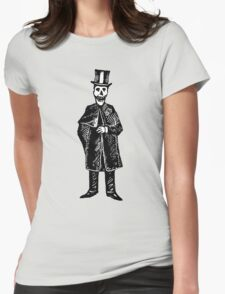 Skeleton Groom Womens Fitted T-Shirt