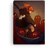 Reaper Girl Canvas Print