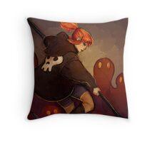 Reaper Girl Throw Pillow