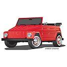 VW 181 Thing Kuebelwagen Trekker Red by Frank Schuster