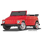 VW 181 Thing Kuebelwagen Trekker Red by Frank Schuster