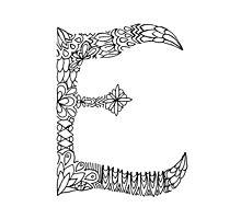 Patterned Letter E by Alyssa Zeldenrust