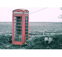 Old Country Phone box Photographic Print
