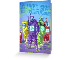 Evil Teletubbies Greeting Card