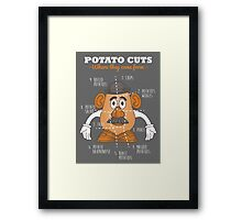 Potato Cuts Framed Print