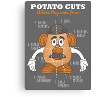Potato Cuts Canvas Print