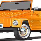 VW 181 Thing Kuebelwagen Trekker Orange by Frank Schuster