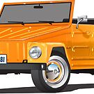 VW 181 Thing Kuebelwagen Trekker Orange by Frank Schuster