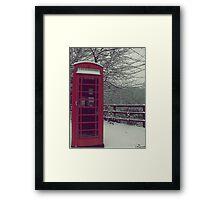 Telephone box Framed Print