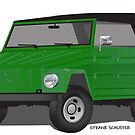 VW 181 Thing Kuebelwagen Trekker Acapulco Green Top On by Frank Schuster