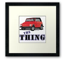 VW 181 Thing Kuebelwagen Trekker Acapulco Top Up Red Type Framed Print