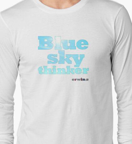 Blue Sky Thinker - light colours Long Sleeve T-Shirt