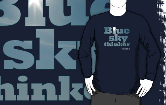 Blue Sky Thinker - dark colours by erwina