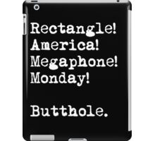 All The Words Ron Swanson Knows. iPad Case/Skin