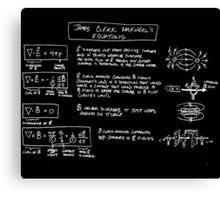 Maxwell's Equations [dark] Canvas Print